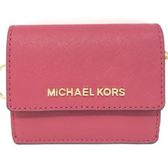 56bf7d4329c4 NWT MICHAEL KORS JET SET ID KEY COIN CARD Wallet